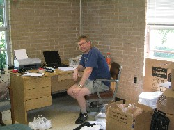 Camp Director in his office